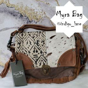 "Myra ""Rug & Hair-on"" Leather & Hair-on Messenger"